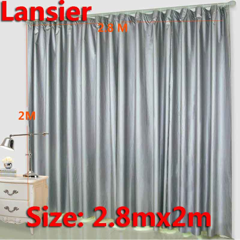 Blackout Window Curtain 28 M X 2 Sliver Finished Summer Thermal Curtains For Living Room