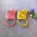 Primavera chapéu do bebê com orelhas bonito ajustável bebê bonnet cap enfant amarelo/rosa para 1-2 anos