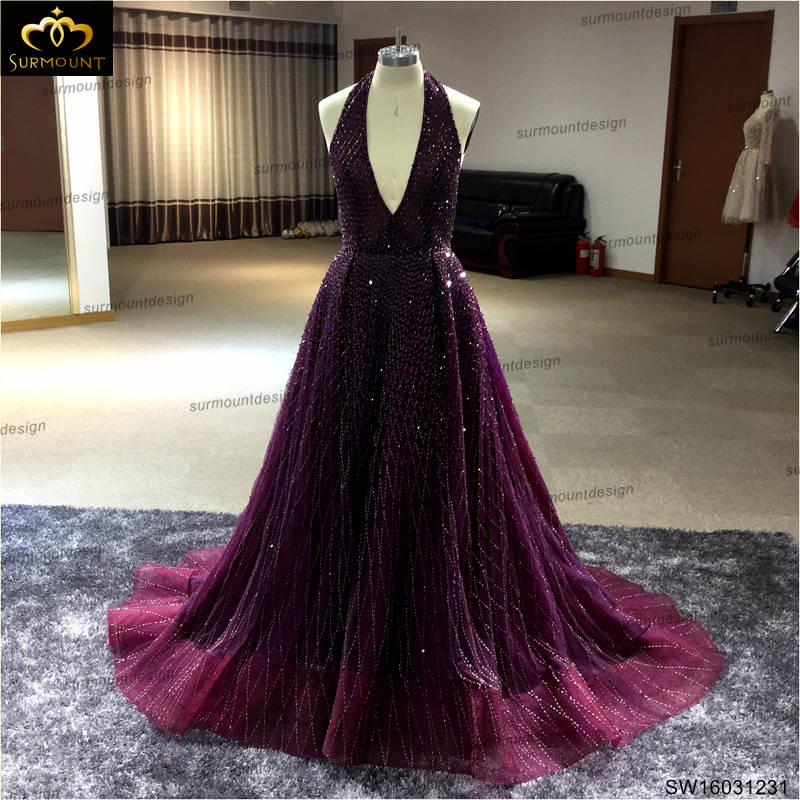 Real Custom Made Dark Red Wine Color Halter Neck Backless Long Prom Dresses 2017 In From Weddings Events On Aliexpress Alibaba Group