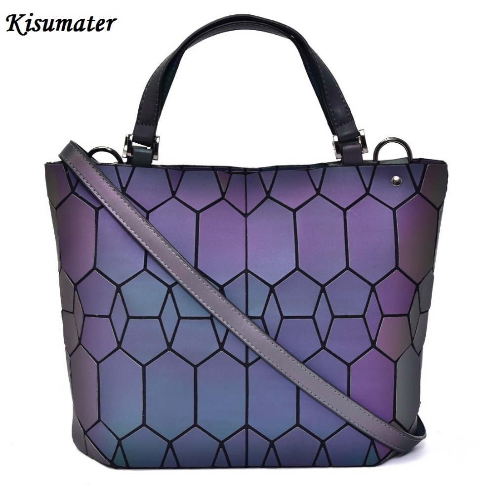 9786e26765f5 Detail Feedback Questions about NEW Luminous bag Women s Geometry handbag  Diamond Tote Quilted Shoulder Bags Laser Plain Folding tote hologram Free  Shipping ...