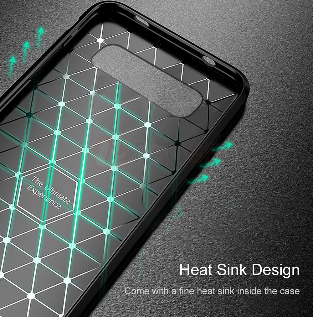 istylishmall - Silicone Bumper Leather Texture Back Case For Samsung Galaxy S10 Lite S10 Plus