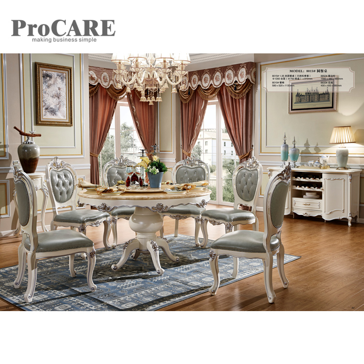European Dining Room Furniture: China Foshan Classic European Style Round Marble Top
