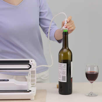 Reelanx Vacuum Containers Wine Stopper for Keeping Food Wine Fresh Work with Vacuum Sealer Jar with Air Valve