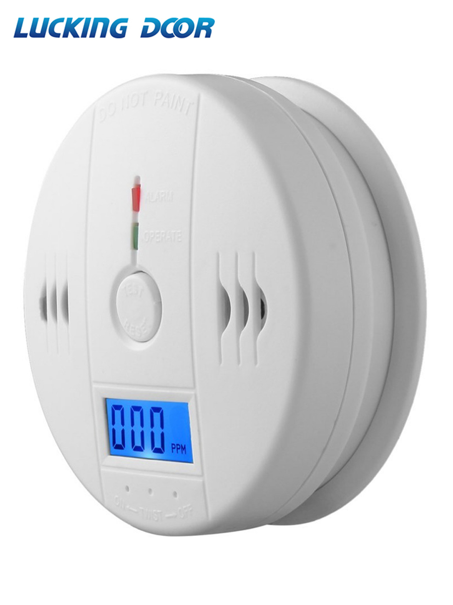 LUCKING DOOR 85dB LCD CO Sensor Carbon Monoxide Poisioning Detector Carbon Monoxide Alarm Detector