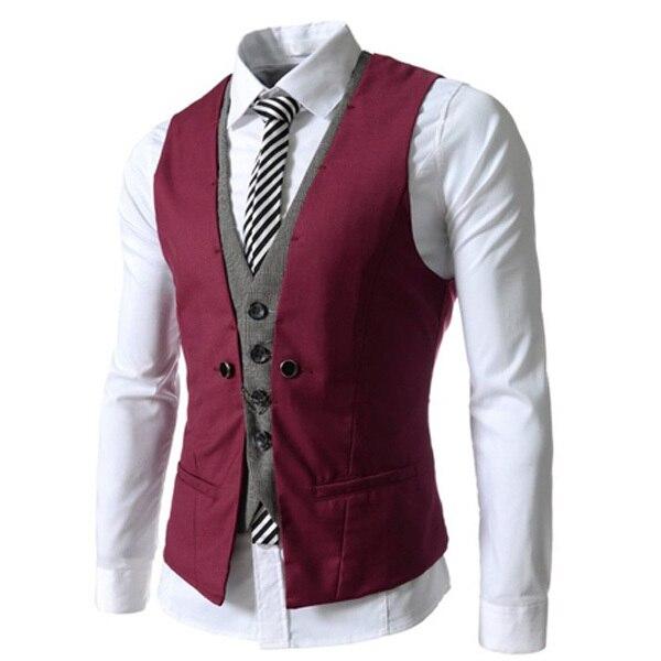 2017 New Arrival Men Suit Vest Fashion Casual Wedding Formal Business Suits Blazer Costume Vest Hot Sale Vests For Men