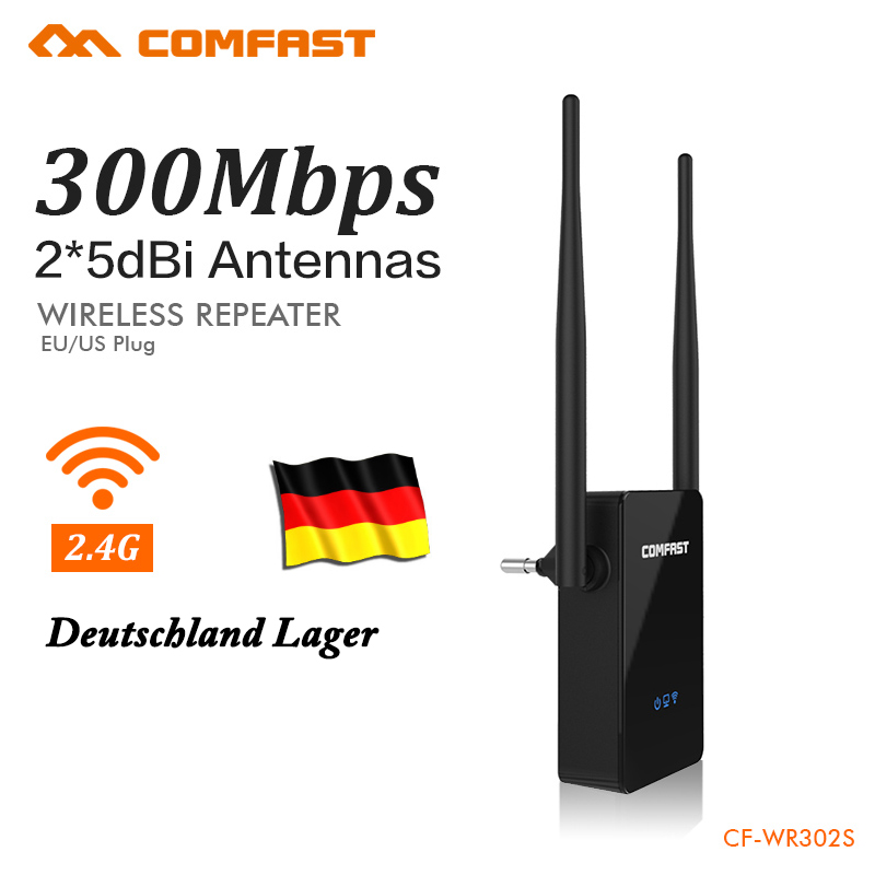 Germany Warehouse Wifi Repeater 300Mbps 802.11n Network Wifi Extender Signal Amplifier Signal Booster Repetidor CF-WR302S