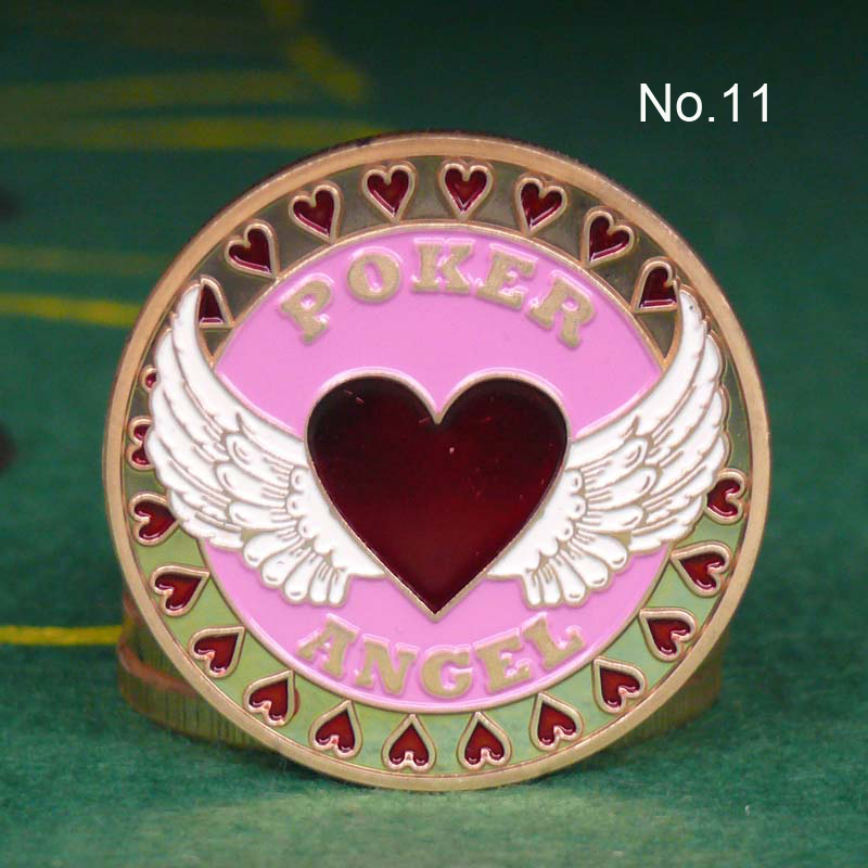 Metal for Pressing Poker Cards Guard Protector No.11  ANGEL  Poker Chips Souvenir Coins