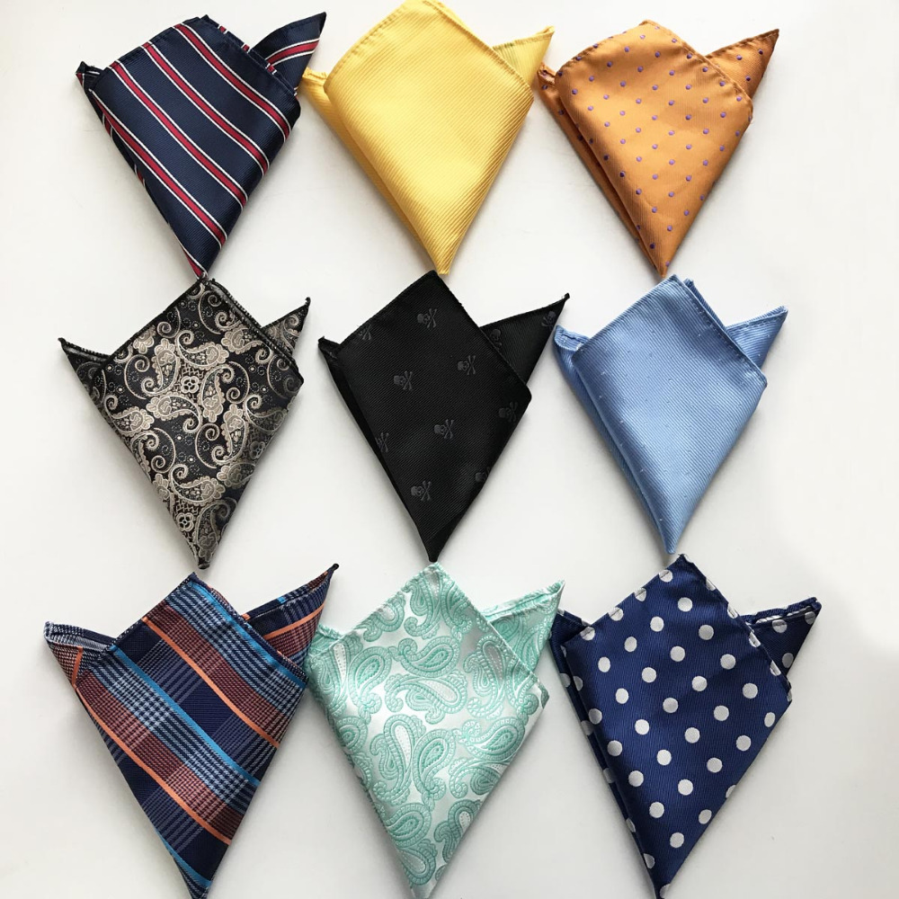 Wholesale Fashion Men Pocket Square Party Handkerchief Black With Character Skull