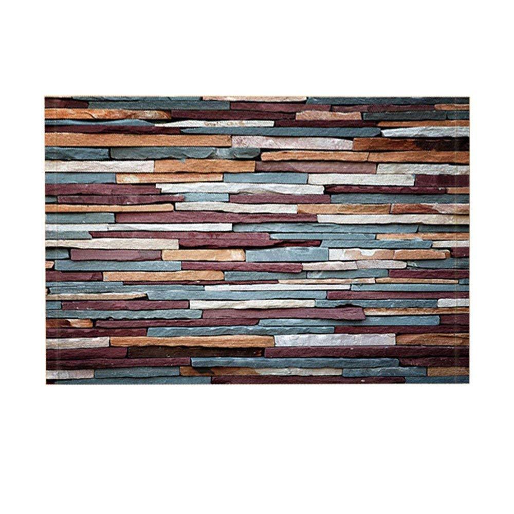 Entryways Indoor Flannel Shower Rug Soft Bath Mat Floor Door Non Slip 40x60cm