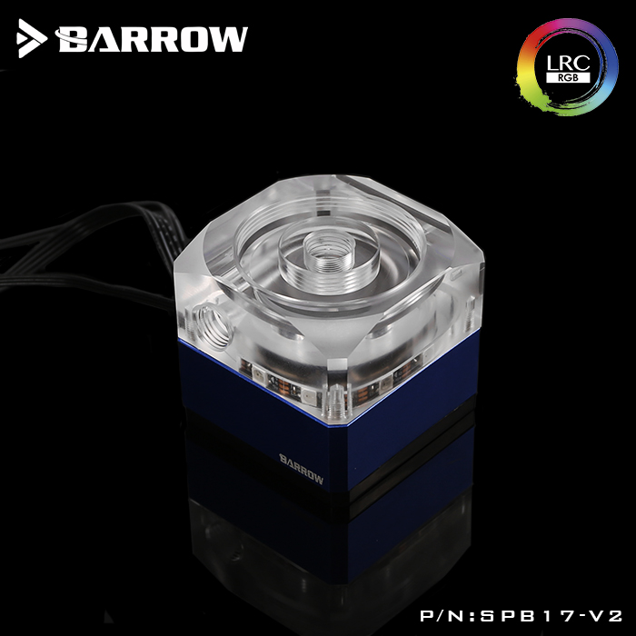 Barrow SPB17-V2, 17W PWM Combination Pumps, LRC 2.0, Wite Reservoirs, Need Combination With Reservoir To Use