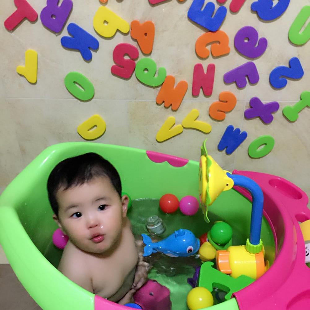 36pcs A-Z 0-9 Foam Letters Numbers Baby Kids Bathroom Bath Tub Float Stick Toys