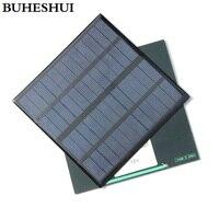 BUHESHUI 3 Вт 12 В мини солнечная батарея поликристаллическая солнечная панель DIY Панель солнечная батарея зарядное устройство 145*145*3 мм Бесплатн...