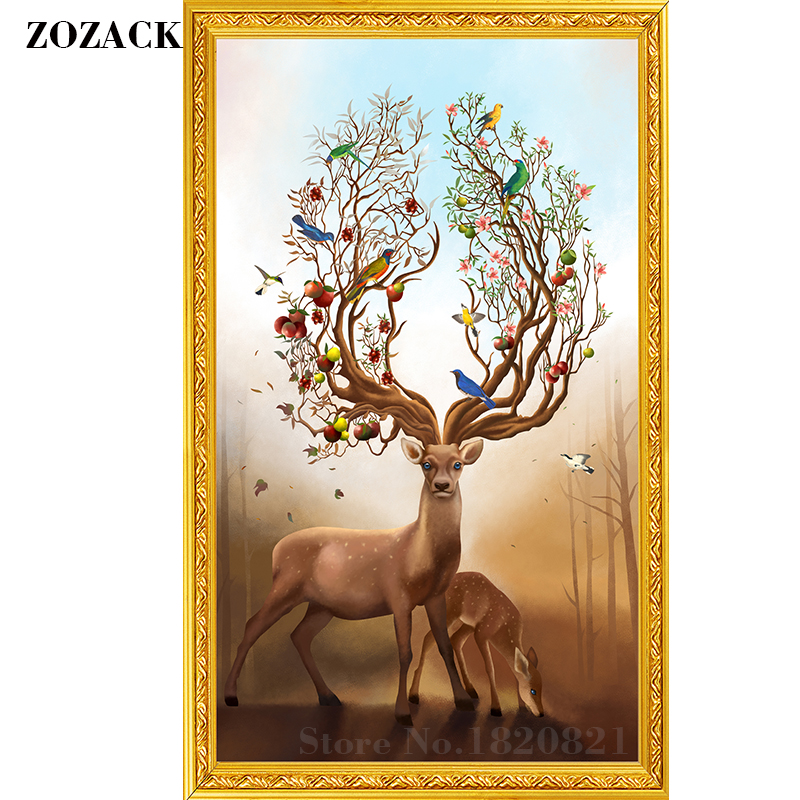 DMC,cross Stitch,kits,chinese,patterns,deer Pattern Printed On The Embroidered Cloth,counted,embroidery,needlework,sets,Decor
