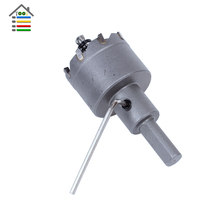 32mm Tungsten Carbide Tip TCT Drill Bit Hole Saw Set for Metalworking Stainless Steel Metal Alloy