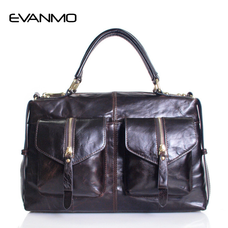 New Arrival High Quality Soft Genuine Leather Women Boston Tote 2 PCS/Set Pocket for Shoulder Bags Fashion Design Crossbody Bag new arrival super star leather shoulder tote boston hobo bag hot sale hollywood fashion style high quality handbag for women