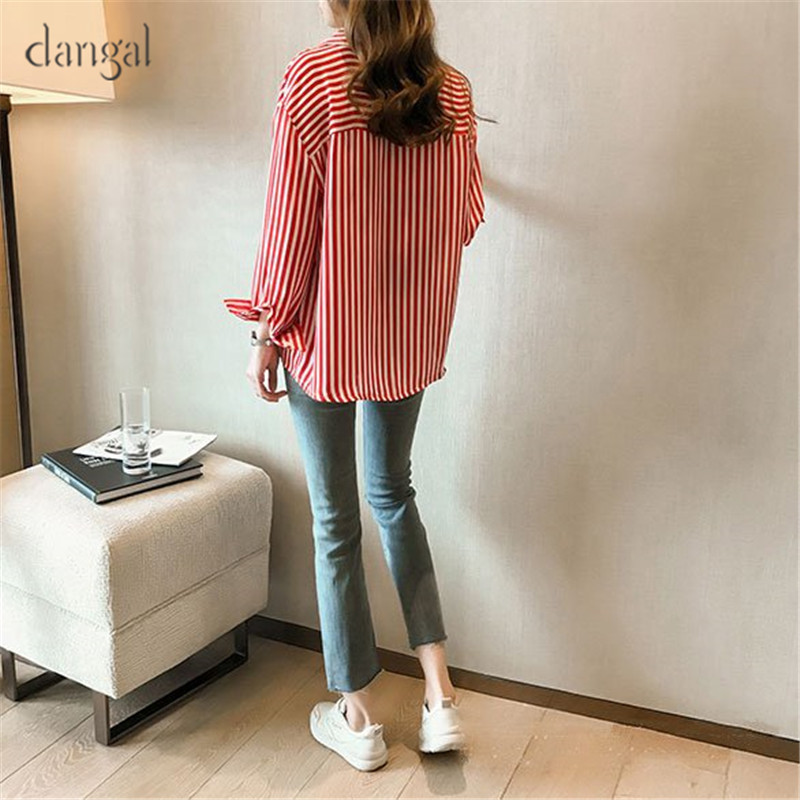 13dc82f4d45 Dangal Vintage Blouse Women Plus Size Long Sleeve Blouse Womens Casual Tops  Red Striped Shirts Blouses Feminine Shirt 2018-in Blouses   Shirts from  Women s ...