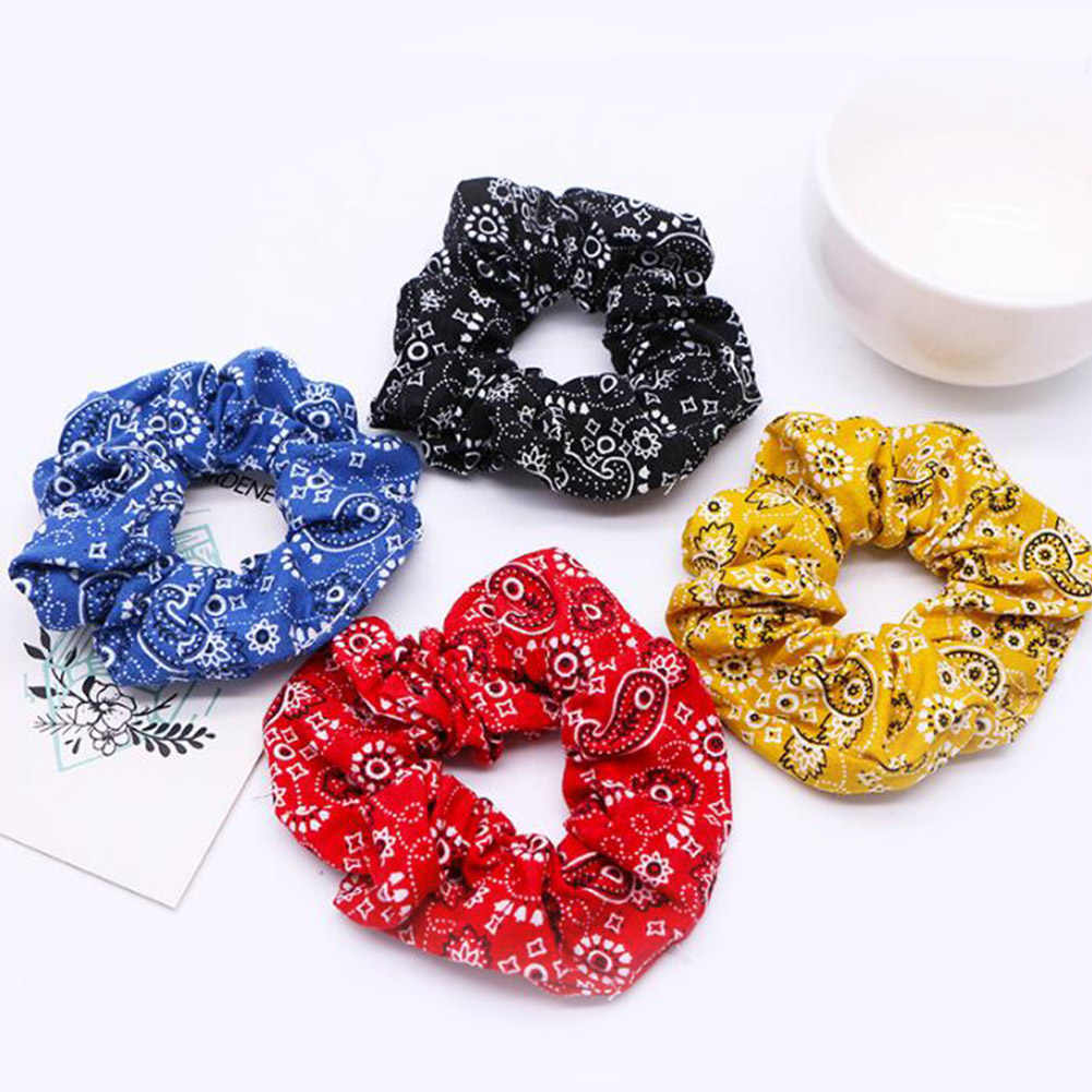 Fashion Women Elastic Hair Bandana Wholesale Scrunchies Ponytail Holder Haar Elastiekjes Hair Ties for Girls Accessories