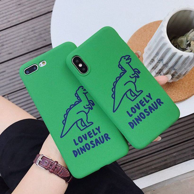 Cases For <font><b>Xiaomi</b></font> <font><b>Redmi</b></font> Note 7 Pro 6 5 5A Prime 5 Plus 6 Pro 5A 4 32GB 3S 3 Pro 4X 4A 4 3 2 S2 Y2 Loverly Dinosaur Silicone Cover image