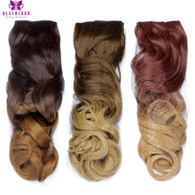 Neverland 24″ 60cm Wavy One Piece 5 Clip 3/4 Full Head Ombre Synthetic Hairpiece 10Color Clip-in Hair Extensions for Women