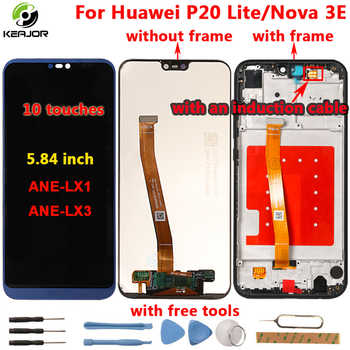 For Huawei P20 Lite LCD Display+Touch Screen+frame HD Glass Panel Digitizer For Huawei P20 Lite Nova 3E display ANE-LX1 ANE-LX3 - DISCOUNT ITEM  30% OFF All Category