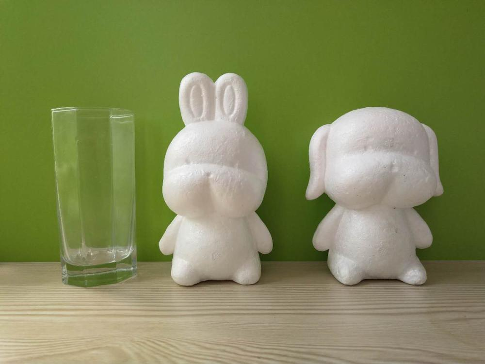1pcs Foam Model Polystyrene Styrofoam White Craft Balls For DIY Christmas Party Decoration Supplies Gifts Rabbit/bunny And Dog