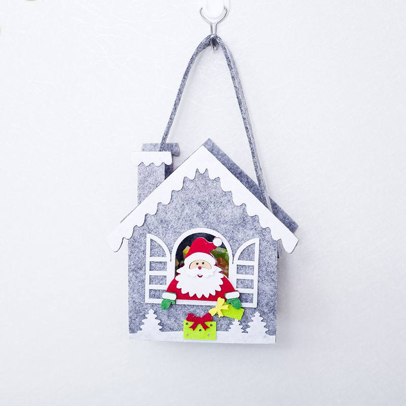 Christmas Candy Gift Holder Treat Bag Portable Felt Xmas Holiday