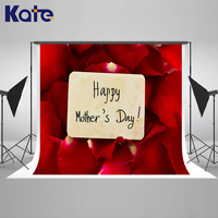 Kate Happy Mothers Day Photography Backdrop Red Rose Petals Backgrounds for Photo Studio Washable Festival Scenic Backgrounds