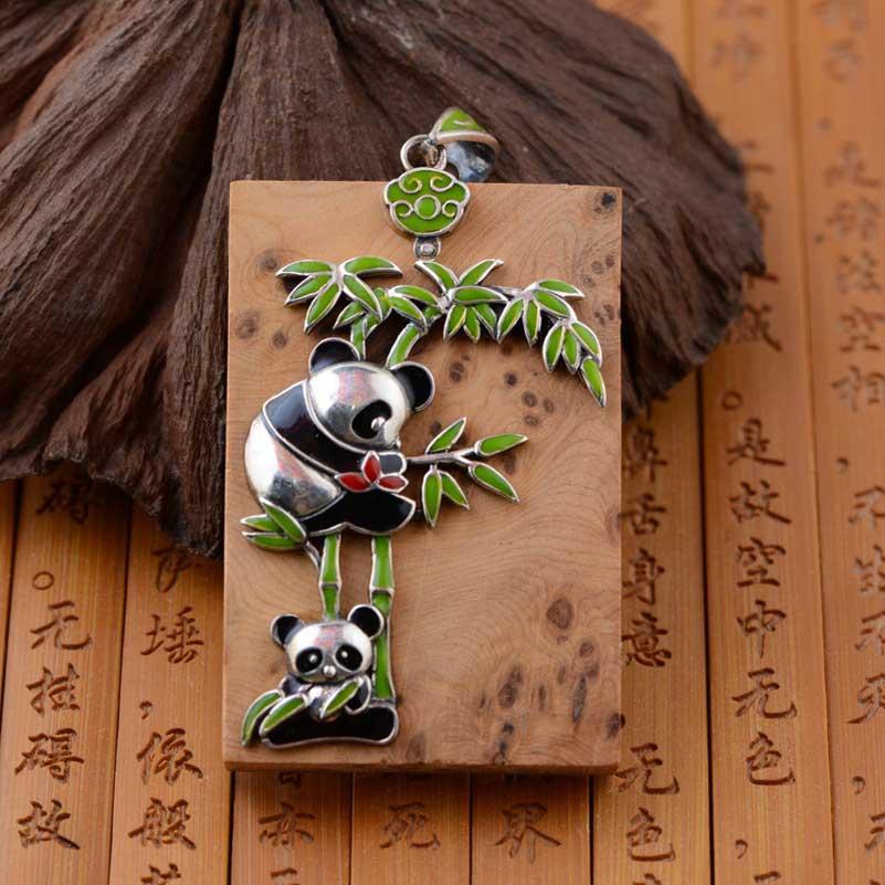 FNJ 925 argent Pixiu poisson éléphant pendentif papillon carré Thuja sutchuenensis S925 Thai argent pendentifs pour la fabrication de bijoux