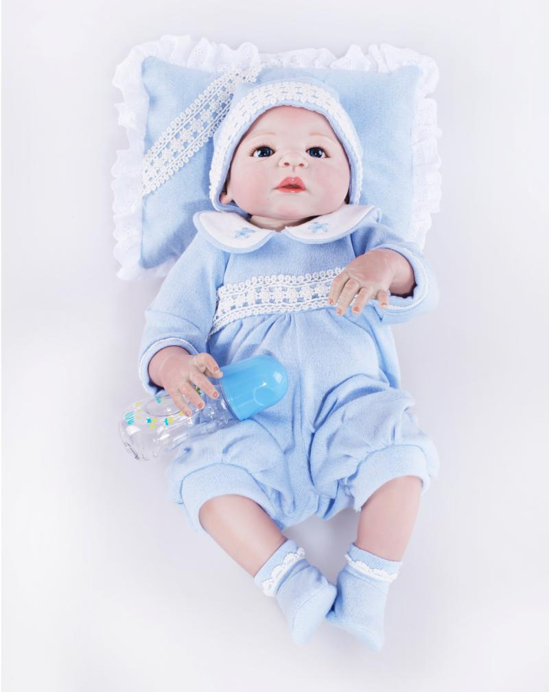 58cm full silicone reborn baby doll Boy 23Inch Reborn Bebe Lifelike reborn bonecas de silicone Doll Bonecas Girl Gifts toys new arrival 23 57cm baby girl doll full silicone body lifelike bebe reborn bonecas handmade baby toy for kids christmas gifts