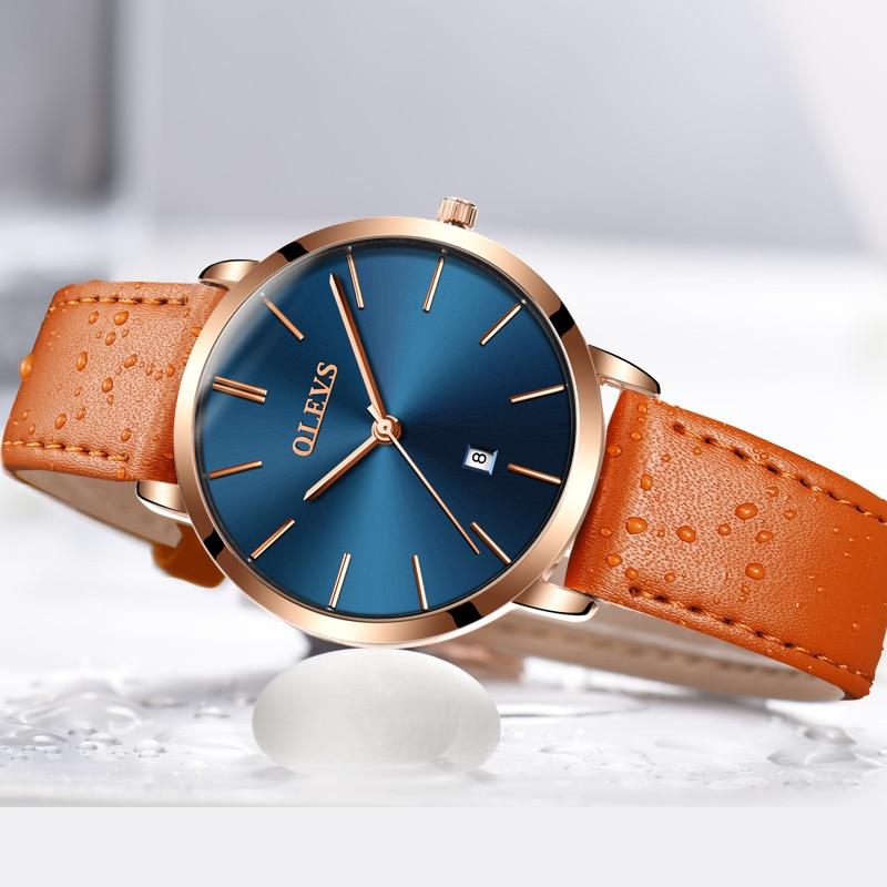 Top Luxury Brand Ladies Watches For Women Ultra thin Watch Rose Gold Casual Quartz Wrist Watch Calendar Clock Relogio Feminino цена