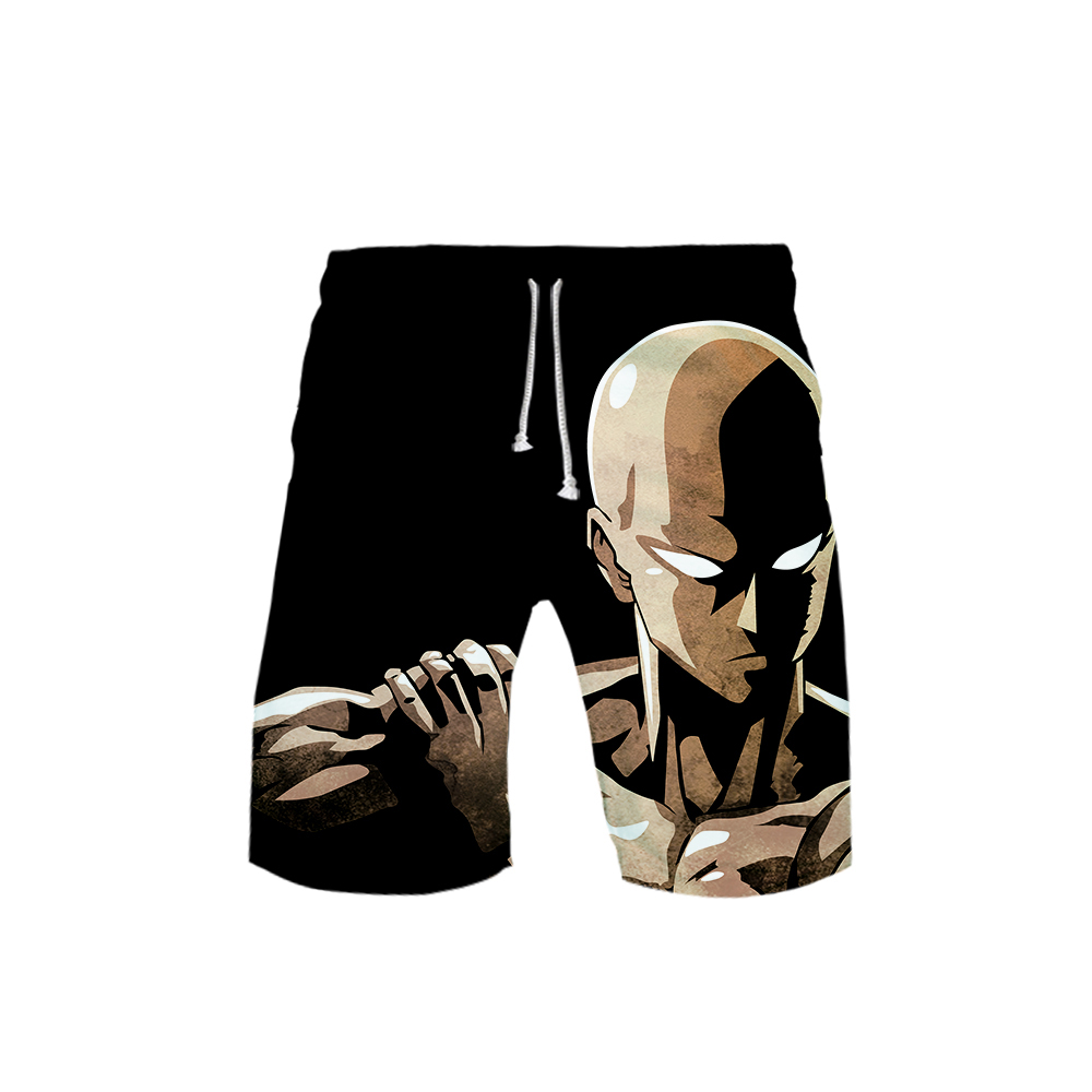 Mens 3D One Punch Man 3D Board Shorts Trunks Summer New Quick Dry Beach Swiming Shorts Men Harajuku Short Pants Beach Clothes
