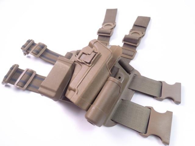 Tactical Hunting Accesorios Gota Muslo Pistolera Negro Verde Sig Sauer P226 CQC