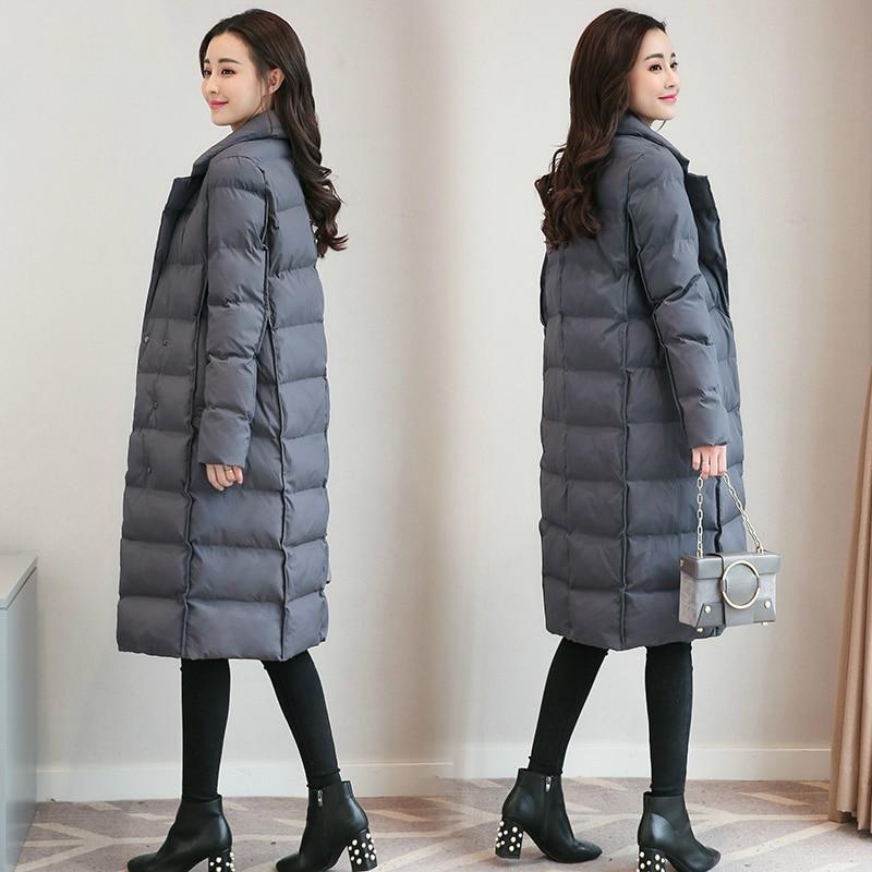 Tcyeek размера плюс 4XL зимняя куртка Женская корейская мода пальто 2019 Длинная женская одежда верхняя одежда парки Топы Chaqueta Mujer LWL811