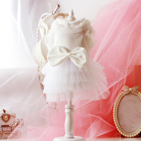 Dog Summer Wedding Dress Pet Clothes For Small Dogs Dresses Tutu Summer Skirt Robe Princesse Wedding