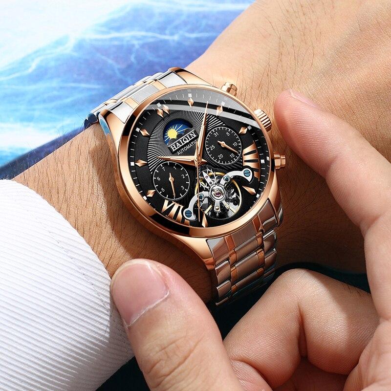 HAIQIN hommes/hommes montres top marque luxe automatique/mécanique/de luxe montre hommes sport montre-bracelet hommes reloj hombre tourbillon - 4