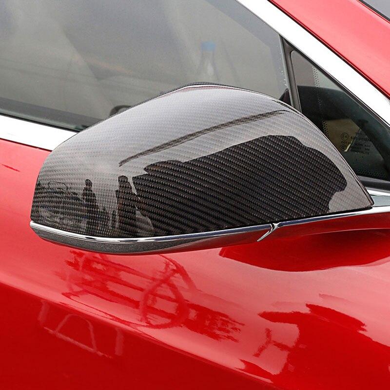 Carbon Fiber Auto Seite Tür Spiegel Abdeckung Für Tesla Model S 2014 2018-in Spiegel & Abdeckungen aus Kraftfahrzeuge und Motorräder bei title=