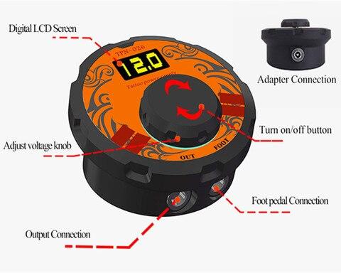 bobina rotativo arma maquiagem tatuagem fontes alimentacao