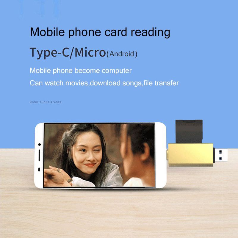 USB 3 0 Type C Micro USB Card Reader SD TF Card OTG Adapter Mobile Phone USB C Memory Card Reader for Phone Computer in Card Readers from Computer Office