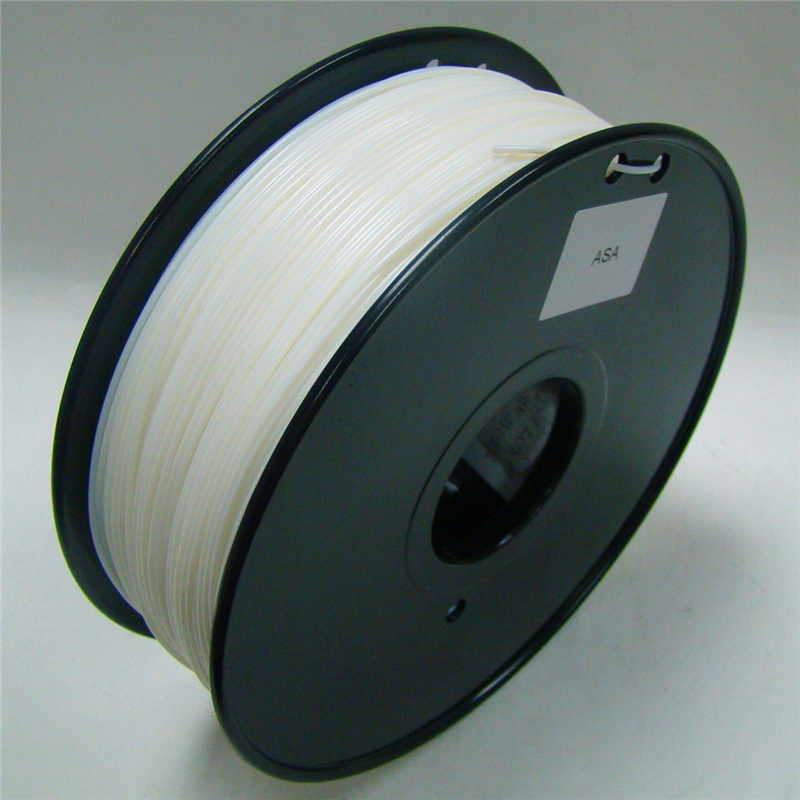 ağ rəngli 3d printer filament ASA 1.75mm / 3mm 1kg plastik Rezin istehlak materialı MakerBot / RepRap / UP / Mendel