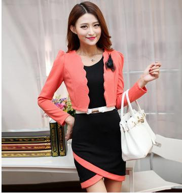 Autumn-new-OL-commuter-fashion-cultivate-one-s-morality-quality-professional-two-piece-Dress-small-suit (4)