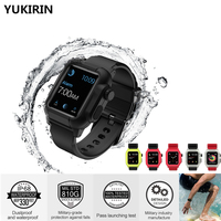 YUKIRIN Waterproof Sport Silicone Suit Band Case For Apple Watch Series 3 2 Wrist Strap Buckle for iwatch 42mm