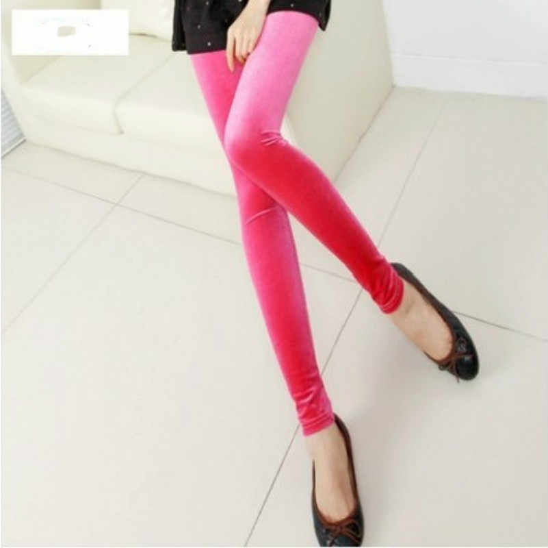 cfcb6e4fe8024f ... New velvet leggings women legging High Elastic Crushed Velvet Pants  Push up Slim Leggings