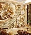 Роскошные европейские современные модные цветочные занавески кантри плотные шторы для спальни затемненные оконные шторы