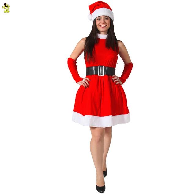 frauen weihnachtsmann kost m neue jahr winter kleid. Black Bedroom Furniture Sets. Home Design Ideas