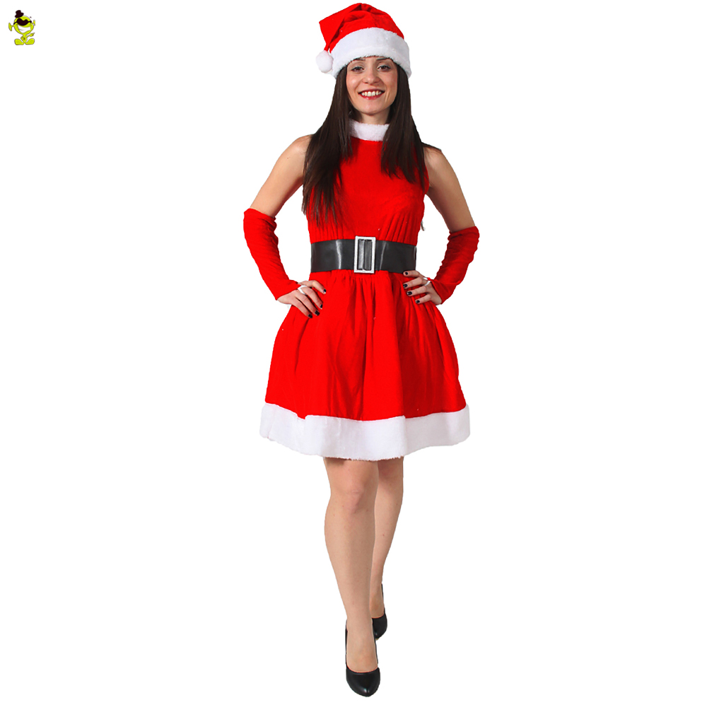 Women's Santa Snowman Costume New Year Winter Dress Christmas Outfits Women's Ball Party Wear Cosplay Costume