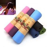 183CM*61CM*6MM TPE Non slip Yoga Mats For Fitness Tasteless Brand Pilates Mat Gym Exercise Sport Mats Pads