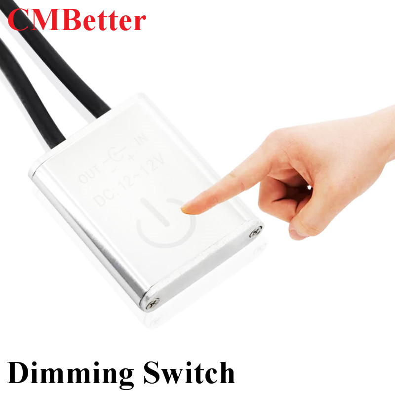 iTouch LED DImmer controller DC 12V/24V 3A Touch Dimming Switch with DC Plug for Cabinets, Stairs, Wardrobes, Furniture