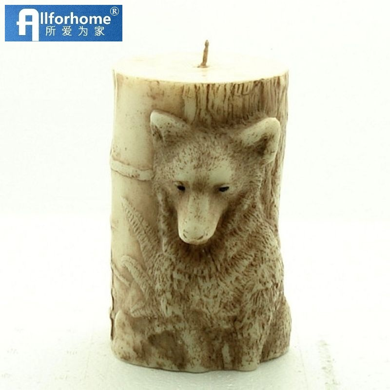 Animal 3D Wolf Silicone Candle Mold Silicone Soap Mold Craft Art DIY Mould Candle Making Mold Wax Pillar Candle diy Tool