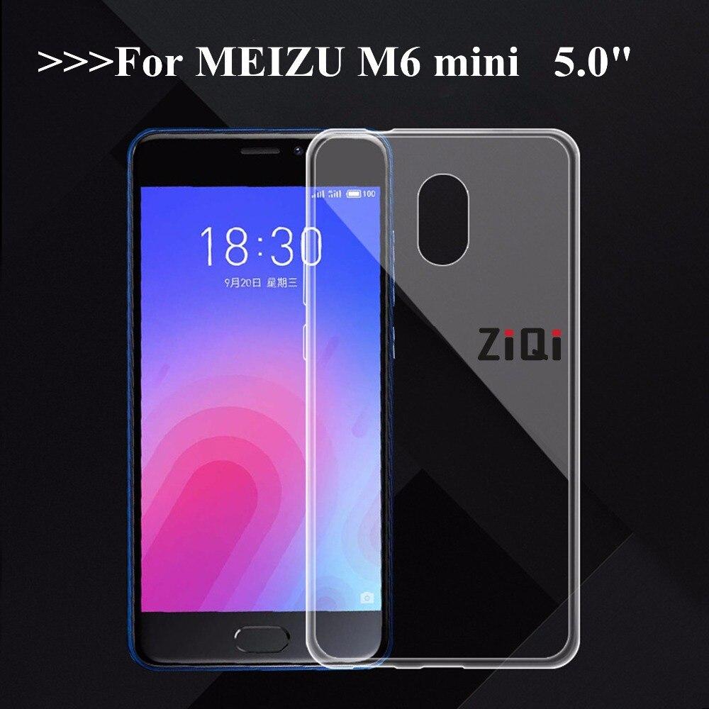"""ZiQi pour Meizu m6 étui pour Meizu m6 mini 5.0 """"étui en Silicone TPU étui pour Meizu m6 mini Ultra mince cristal doux"""