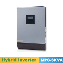 3000VA 2400W Pure Sine Wave Inverter Hybrid Inverter 24VDC Input 220VAC Output with MPPT Solar Charger Controller 25A